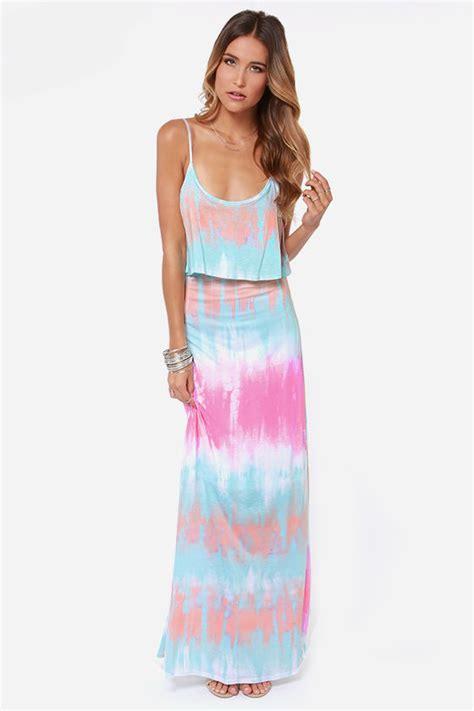 tie dye dress maxi dress blue dress 36 00