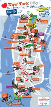 tourist attractions map map of nyc tourist attractions sightseeing tourist tour
