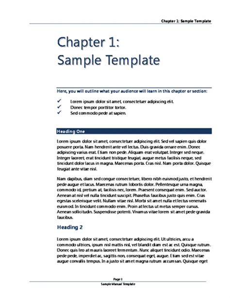 user manual template word templates