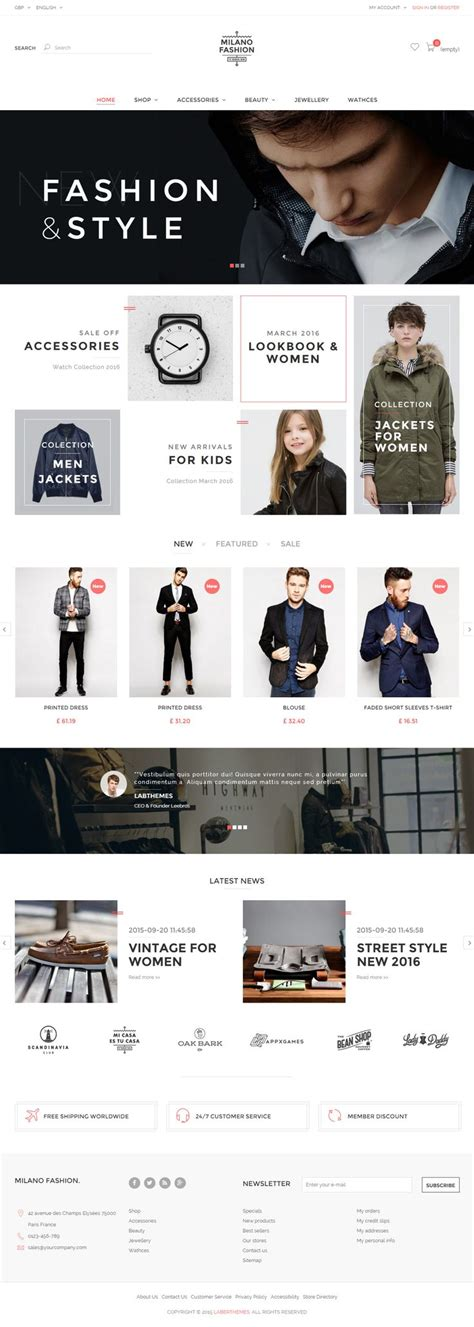 london themes prestashop milano is premium responsive prestashop ecommerce theme