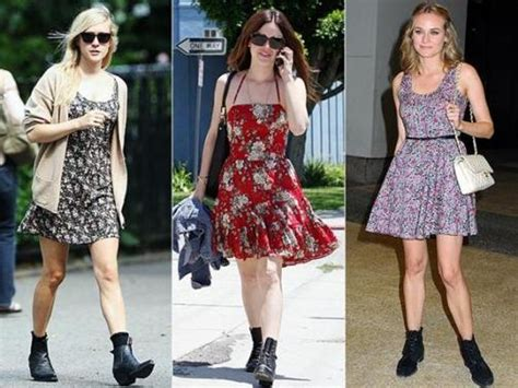 flat ankle boots with dresses