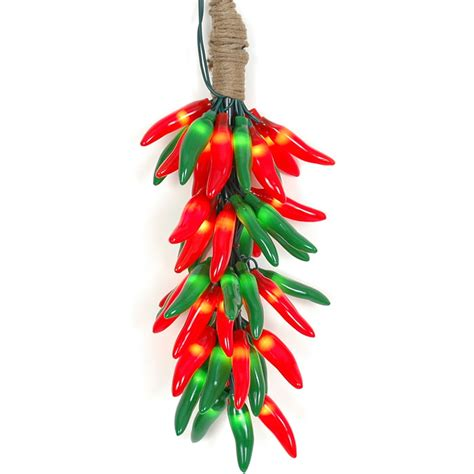 chili pepper christmas lights christmas red and green chili pepper light ristras 16