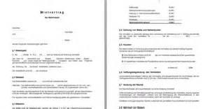 mustermietvertrag wohnung mietvertrag kostenlose vorlage giga
