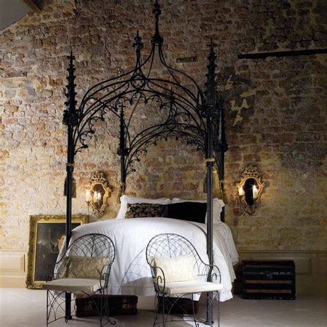 Antique Iron Headboards Queen by Gothic Canopy Beds