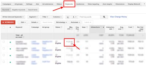 adwords bid adwords position bid karooya