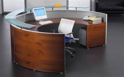 half moon reception veneered front desks active s
