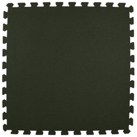 greatmats premium black 24 in x 24 in x 5 8 in foam