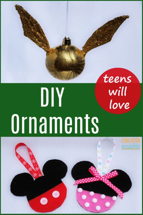 christmas ornaments   perfect christmas crafts  teens