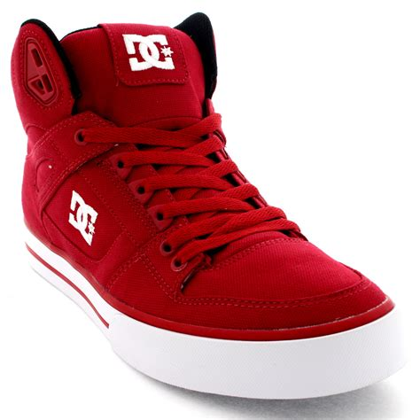dc high top shoes for mens dc shoes spartan high textile lace up high top skate
