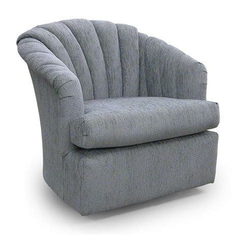 Best Home Furnishings Chairs Swivel Barrel 2558 Elaine Barrel Chairs That Swivel