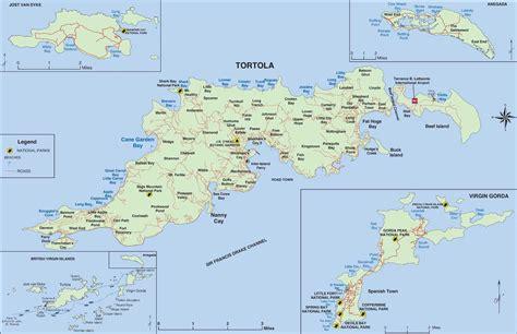 large detailed map  tortola british virgin islands
