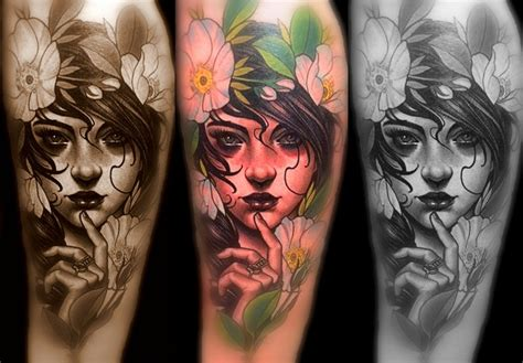 woman tattoo justin hartman tattoos pinterest