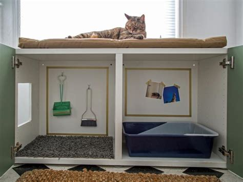 Litter Box In Bedroom by How To Conceal A Litter Box Inside A Cabinet Hgtv