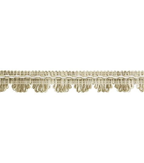 home decor trim home decor trim conso 1 sand cream white fringe scallop