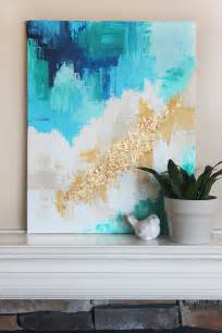 home design gold tutorial diy abstract art with a golden touch lolly jane
