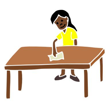 Clean Table by Clean Up Table Clipart Clipart Suggest