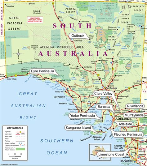 section maps south australia image gallery south australia