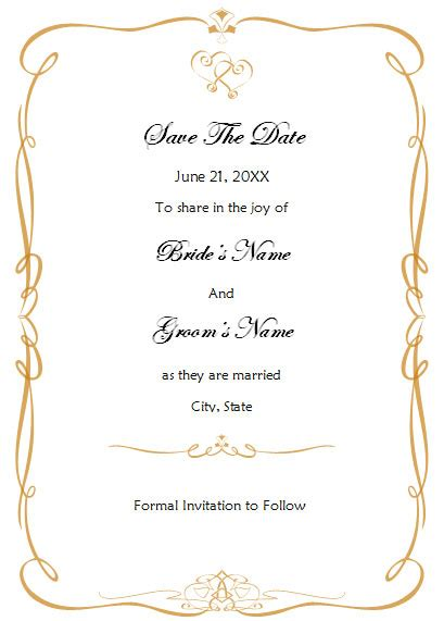 Printable Wedding Invitation Templates Free Save The Date Party Invitations Ideas Save The Date Cards Templates