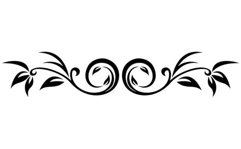 scroll pattern png decorative leaf scroll decals stickers high style wall