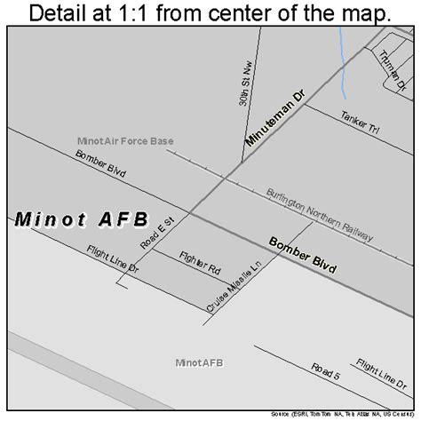 minot dakota map minot afb dakota map 3853420