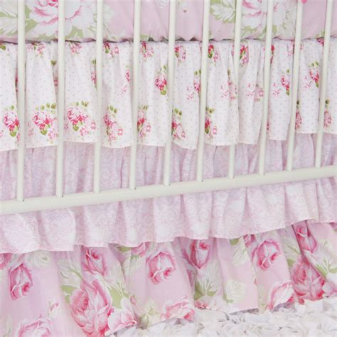 shabby chic crib bedding sets shabby chic pink 5pc baby crib bedding set custom made
