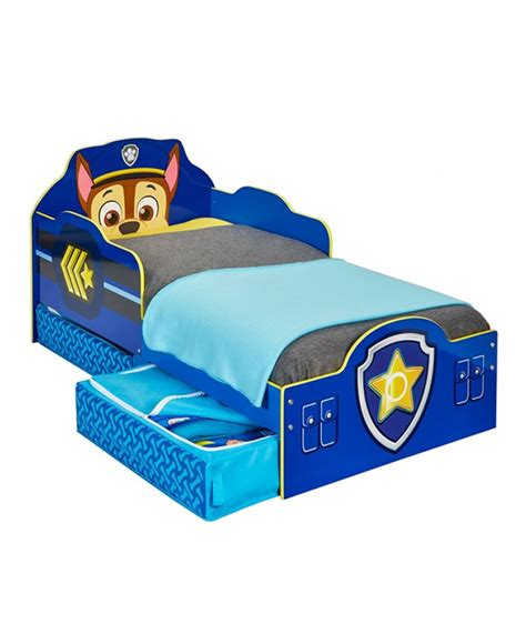 paw patrol bed paw patrol chase toddler bed with storage bedroom