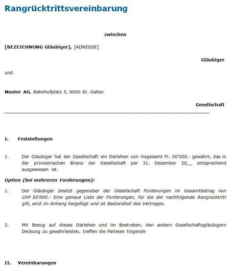 Muster Vollmacht Schweiz Rangr 252 Cktrittsvereinbarung Muster Zum