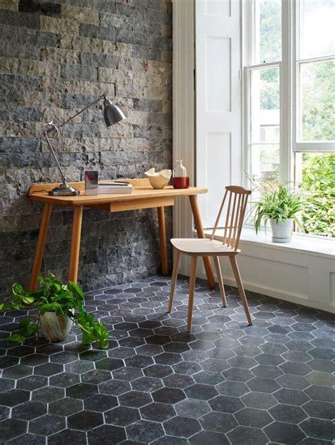 Stunning Botanical Wall Using Hexagon Tiles - 1000 ideas about tiles on valspar paint