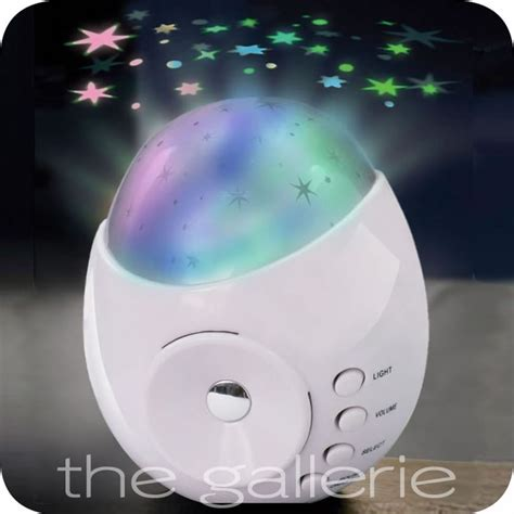 sound machine with light projector white galaxy star projector sound machine baby kids