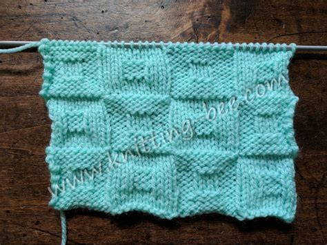 knit a square square in a square checkerboard knitting stitch knitting bee
