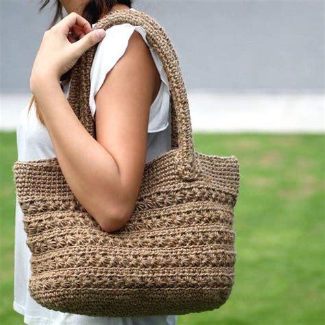 crochet jute bag pattern crochet pattern for a jute twine tote with star stitch