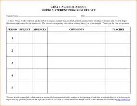 5 student progress report template bookletemplate org