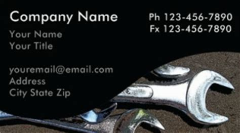 mechanic business cards templates free automotive business card templates