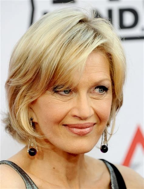 pictures of diane sawyer haircuts diane sawyer chic hairstyle with bangs hairstyles weekly