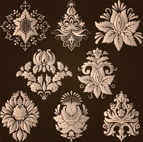 damask pattern cdr free floral damask vector images free vector download