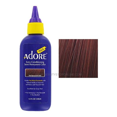 adore semi permanent hair color adore plus burgundy 342 semi permanent hair color