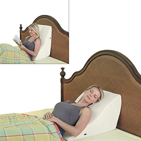 back support pillows for bed contour 174 back wedge lumbar support massage pillow bed