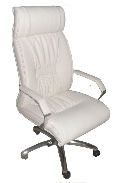 White Leather Executive Desk Chair Office Deluxe Mid White Leather Desk Chairs