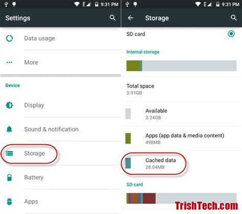 clear cache on android clear cached data in android lollipop