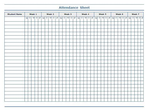 weekly attendance sheet template monthly attendance sheet template search results