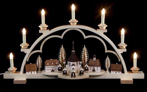 candle arch village seiffen 64cm 25in by m 252 ller kleinkunst