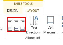 Table Align Center by Text Alignment Within Table Cells In Powerpoint 2013 For