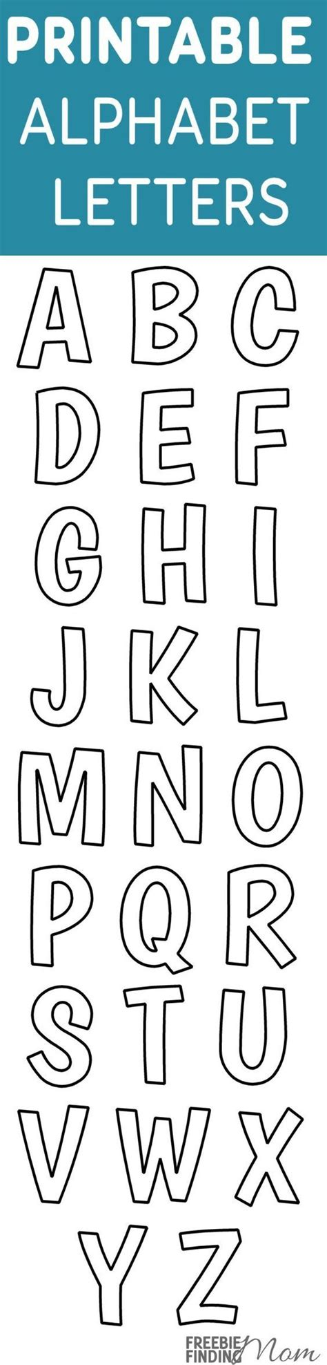 printable alphabet letters for crafts alphabet templates alphabet and school craft on pinterest