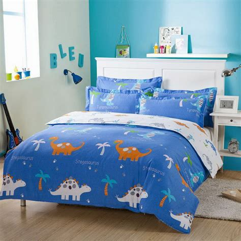dinosaur bed set colorful mart dinosaur park blue dinosaur bedding set