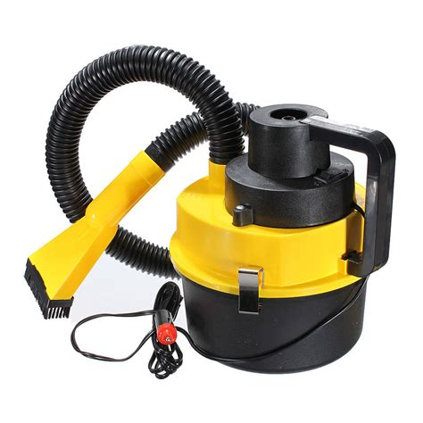 Vacum Cleaner Portable 1 yellow auto car boat truck portable 12v and vacuum cleaner hoover air pumpcar vacuum