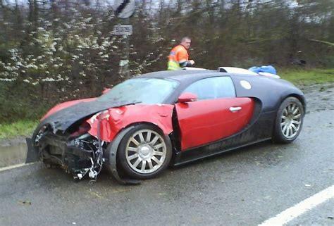 First Bugatti Veyron crash