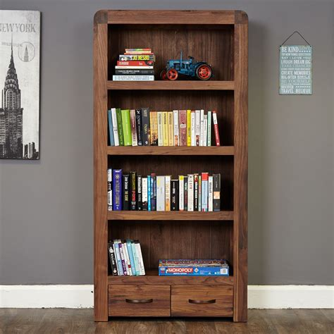 Bookcase Clearance Sale Shiro Walnut Large Two Drawer Bookcase Wooden Furniture