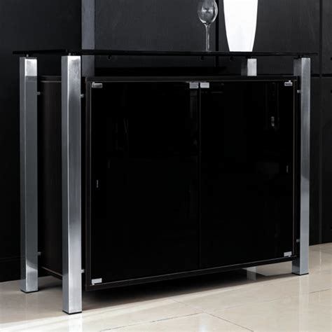 Black Sideboard With Glass Doors Buy Glass Sideboards Furniture In Fashion