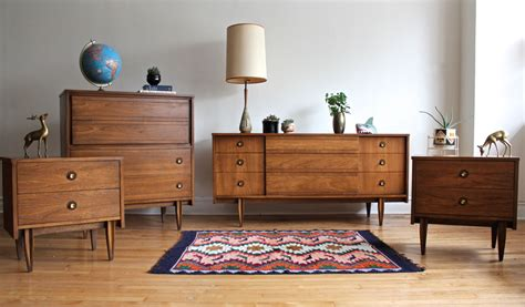 mid century modern bedroom set by