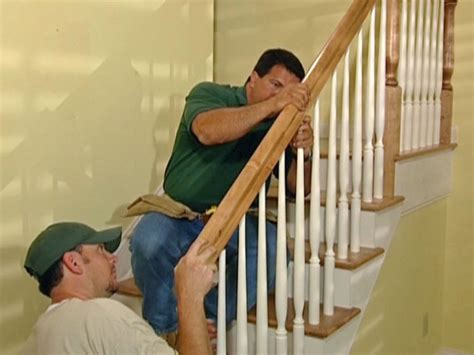 installing a stair banister how to install new stair treads and railings how tos diy
